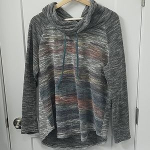 Maurices Multi-Colored Cowl Neck Top